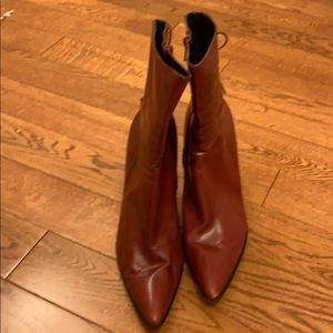 Nine West Red Leather Boots